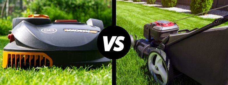 Robot mower vs traditional mower